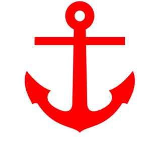 300x291 Red Anchor Clip Art