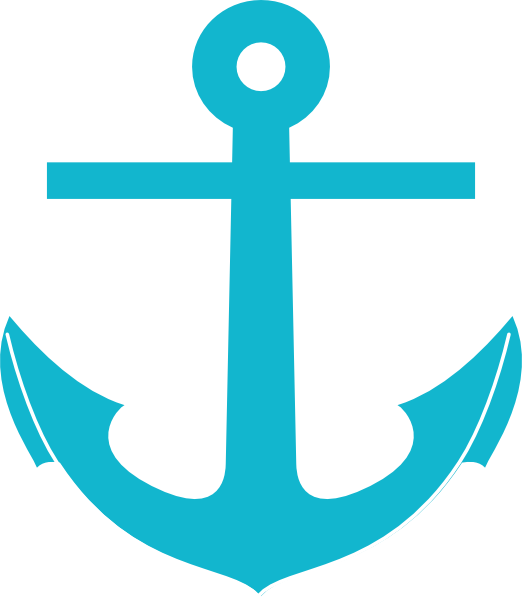 522x598 Teal Anchor Clip Art