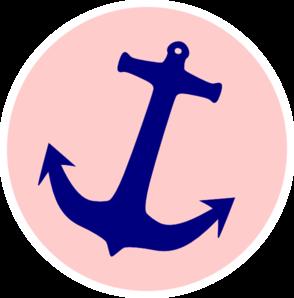 294x298 Pink Anchor Clip Art