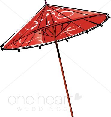 370x388 Chinese Umbrella Clipart