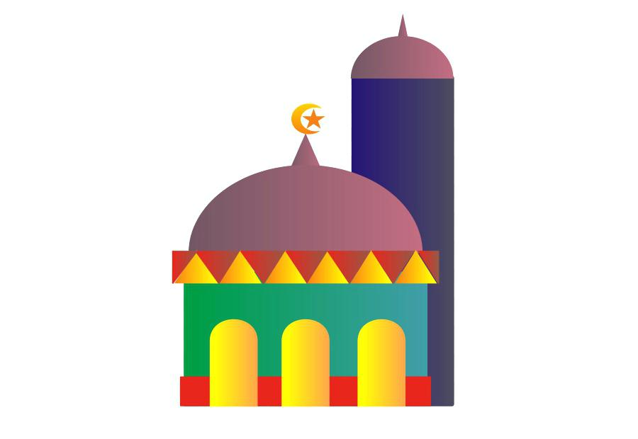 900x620 Mosque Clip Art Vector Ancient Travel Landmarks Of Icon
