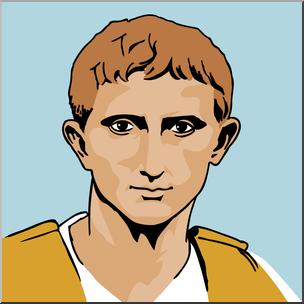 304x304 Clip Art Ancient Rome Augustus Caesar Color I