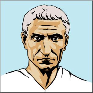 304x304 Clip Art Ancient Rome Julius Caesar Color I Abcteach
