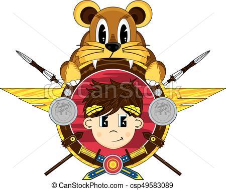 450x379 Roman Emperor Lion Badge. Ancient Roman Emperor With Lion