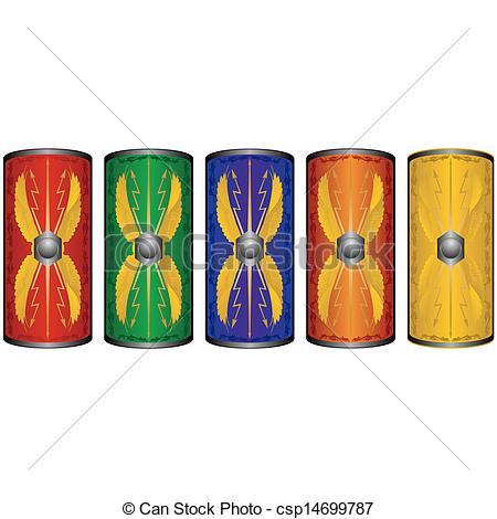 450x470 Shields Roman Legionnaires. Shields Ancient Roman Vector