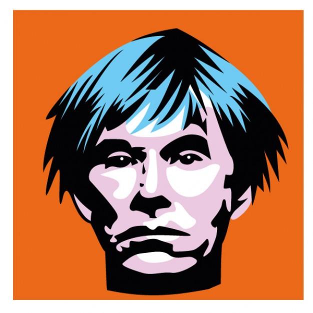 626x626 Andy Warhol Portrait American Artist Vector Free Download