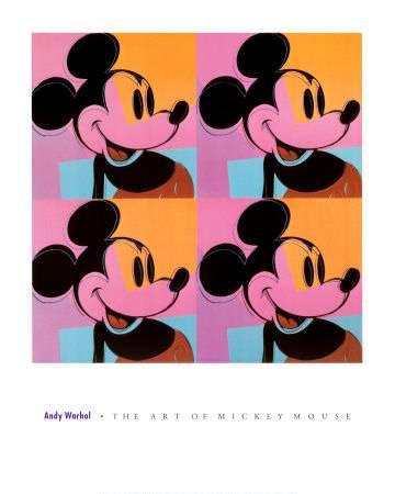 360x450 Mickey Mouse Art Print By Andy Warhol