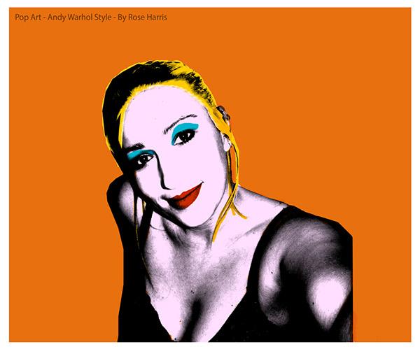 600x499 Pop Art Self Portrait Andy Warhol Style On Behance