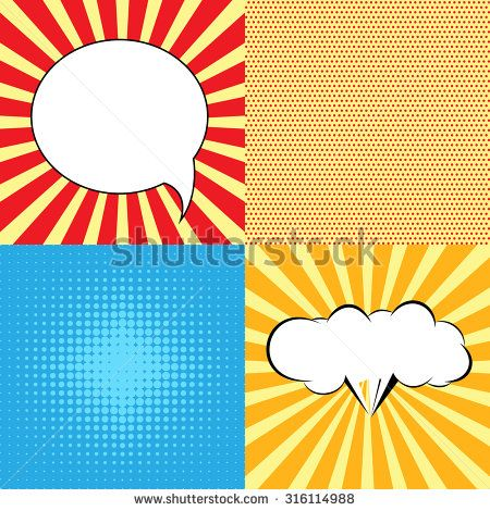 450x470 Speech Bubble In Pop Art Style. Lichtenstein Pop Art. Speech