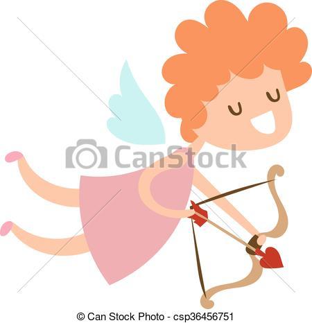 450x466 Silhouette Of Cartoon Cupid Angel Flying Valentine Cute Baby