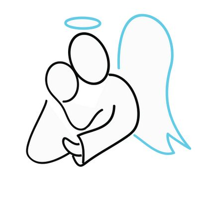 400x400 Angel Outline Clip Art Clipart Collection