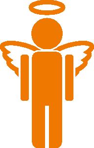 192x301 Angel Icon Clip Art Free Vector 4vector