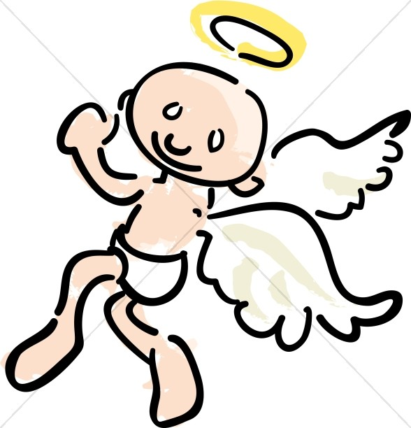 588x612 Outline Of Angel Clipart Angel Clipart