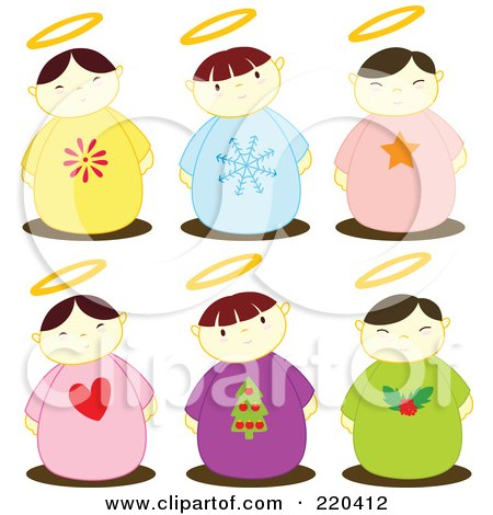 450x470 Royalty Free (Rf) Christmas Angels Clipart, Illustrations, Vector