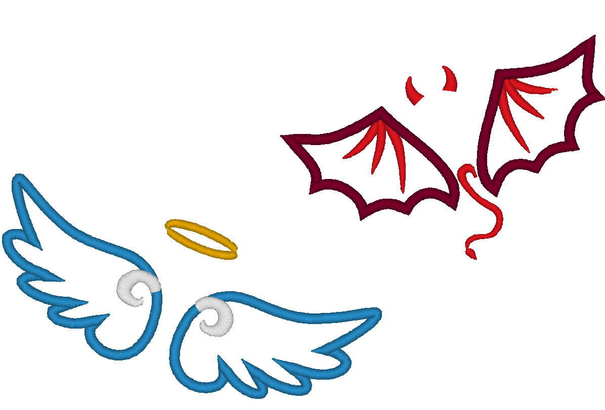 1196x811 Collection Of Angel Devil Clipart High Quality, Free