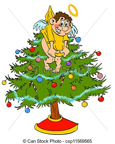 377x470 Collection Of Free Clipart Angel Tree High Quality, Free