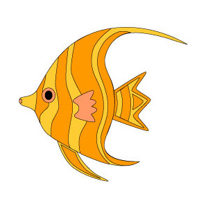 300x300 Orange Tropical Fish Clip Art Clipart Panda