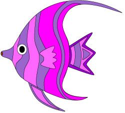 250x226 Pretty Colorful Tropical Fish Clip Art In Shades Of Purple