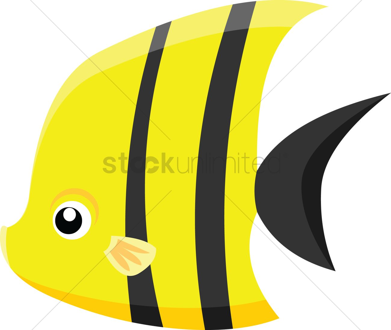1300x1097 Angel Fish On White Background Vector Image
