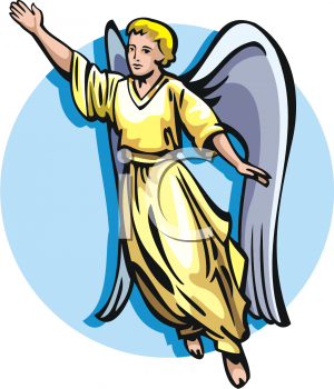 300x350 Angel Gabriel Clipart