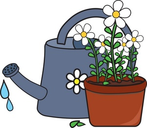 300x261 Watering Plants Clipart