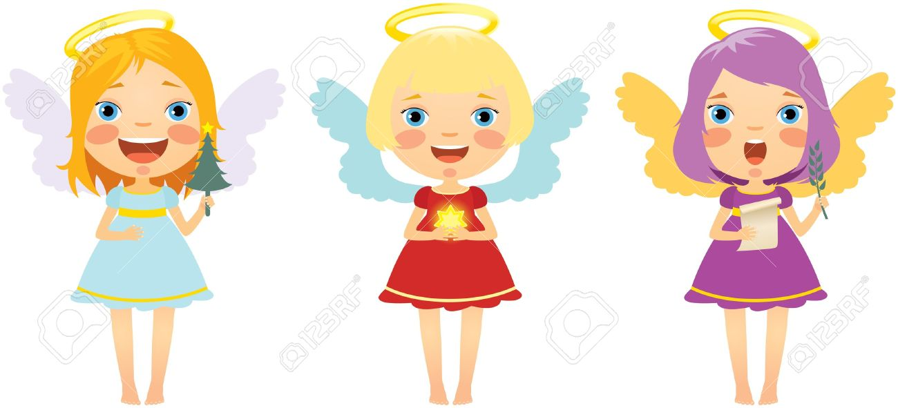 1300x591 Fun Girl Angel Clipart
