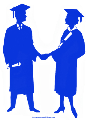 290x400 Vintage Clip Art Of Graduates Shaking Hands Art Education Daily