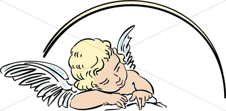 776x382 Angel Baby Clipart