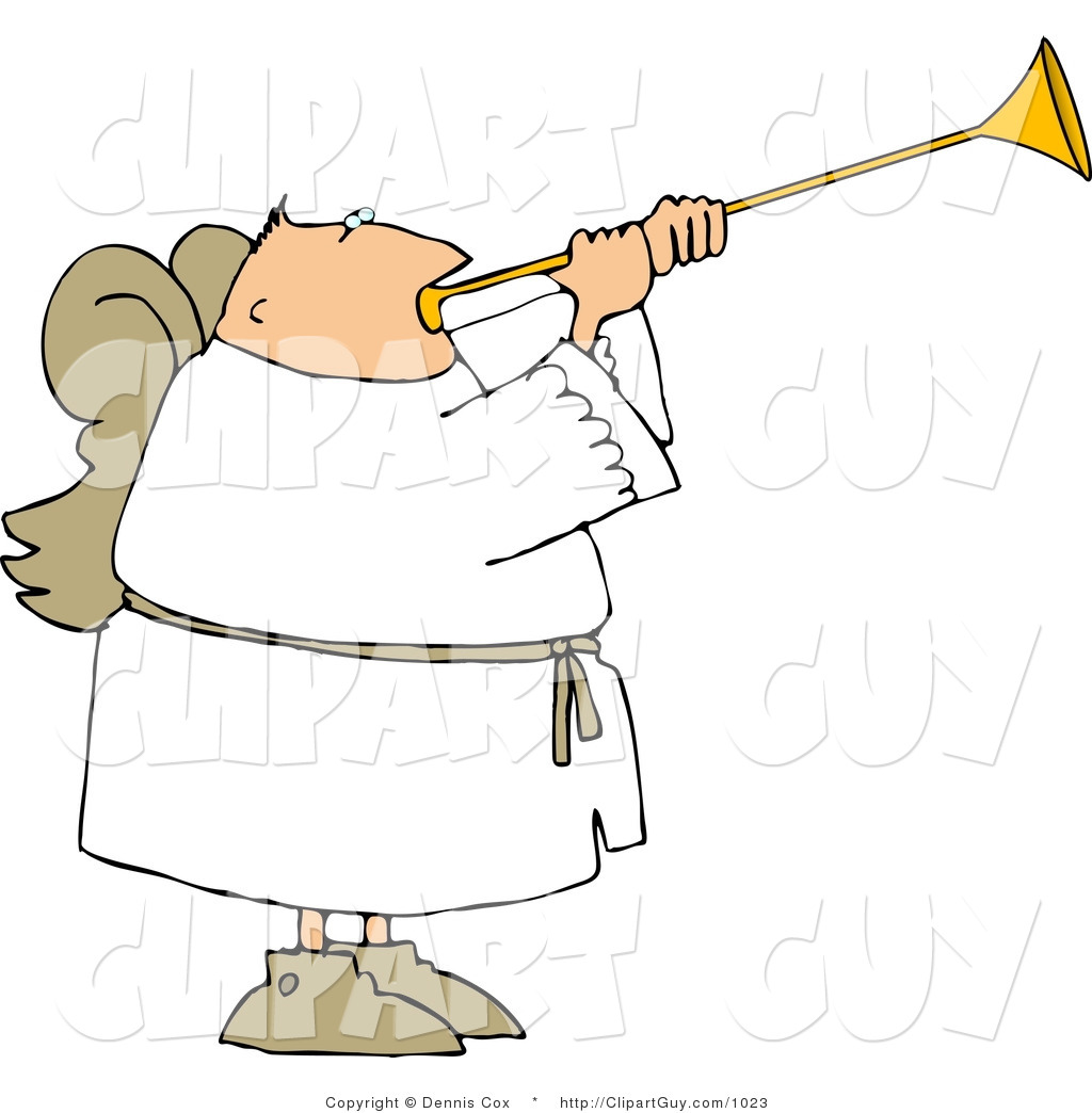 1024x1044 Angel Blowing Trumpet Clipart
