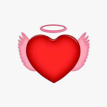 375x375 Angel Heart, Angel Love, Heart, Love Png Image And Clipart