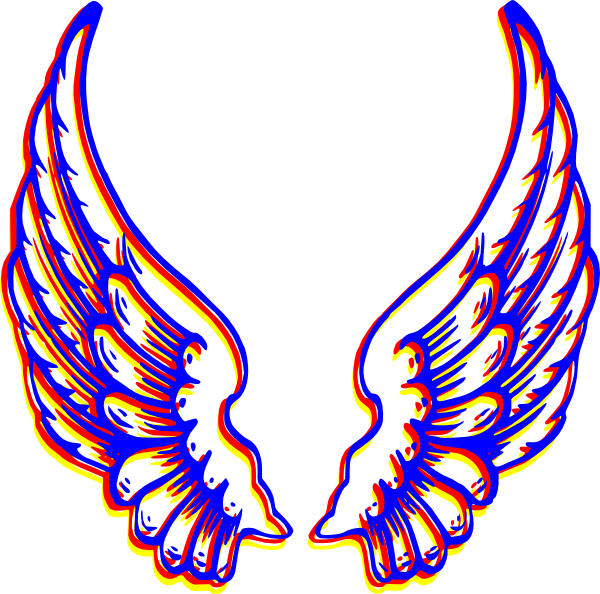 600x594 Colored Angel Wings Clipart