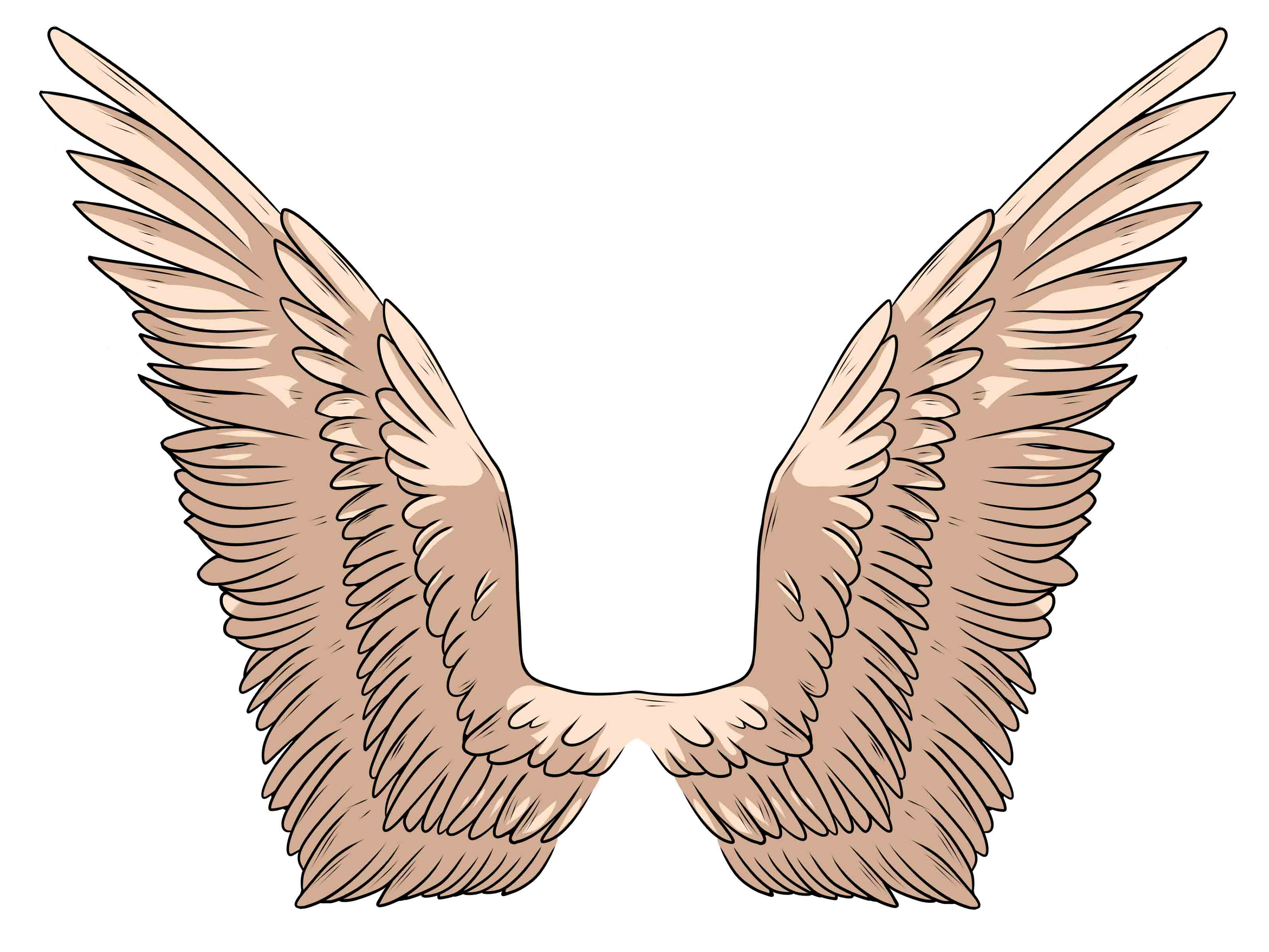 3200x2400 Easy To Draw Angel Wings Easy To Draw Angel Tattoos Simple Angel