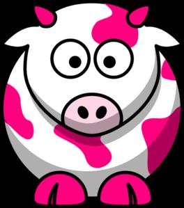 264x299 Pink Cow Clip Art