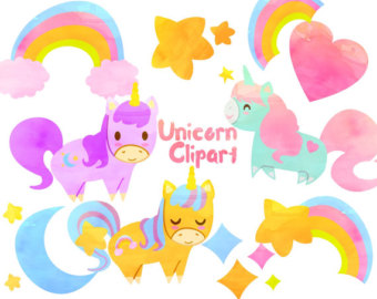 340x270 80% Off Sale Baby Unicorn Clipart Commercial Use, Unicorns Vector