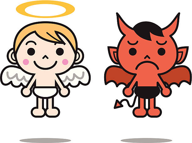 612x457 Collection Of Angel And Demon Clipart High Quality, Free