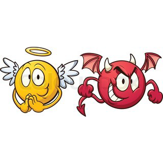 320x320 Facebook Emoticons Angel And Demon Angels Amp Demons Facebook
