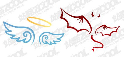 425x196 Free Angels Amp Demons Wings Clipart And Vector Graphics