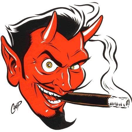 450x450 Orange Red Kinge Devil Clipart