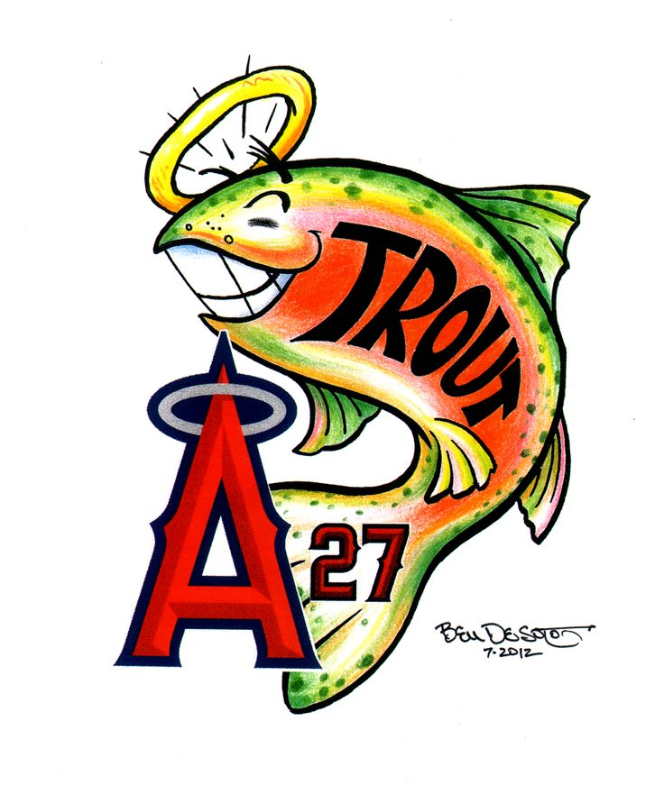 Angels Baseball Clipart
