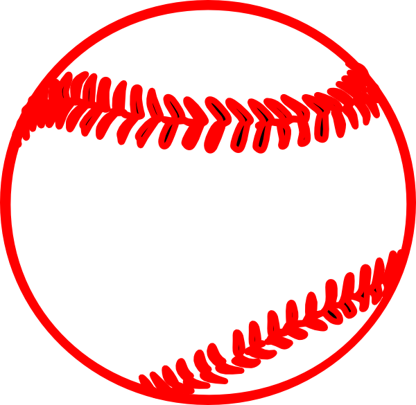 600x585 Red Thick Baseball Clip Art