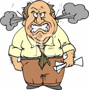 297x300 Clipart Of A Businessman Exploding In Anger