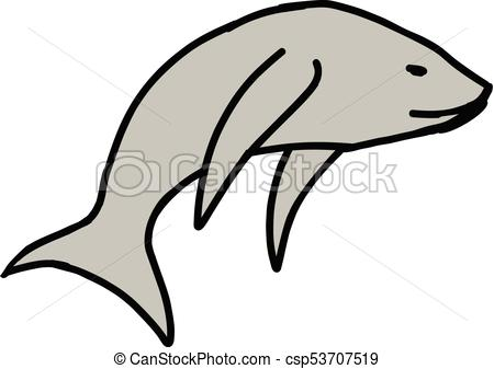 450x337 Fish Cartoon Icon Isolated On White Background Vector Clip Art