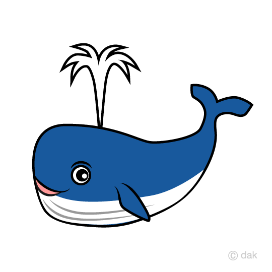 540x540 Free Whale Character Blowing The Tide Clip Art Cartoon