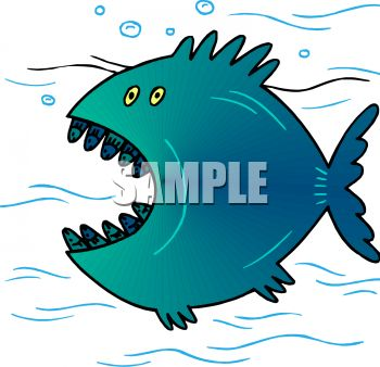 350x338 Royalty Free Clipart Image Big Fish With A Big Mouth