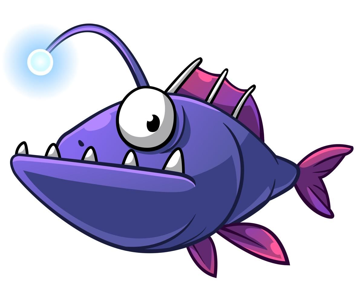 1200x950 Angler Fish Habitat Cartoon Reference Angler Fish