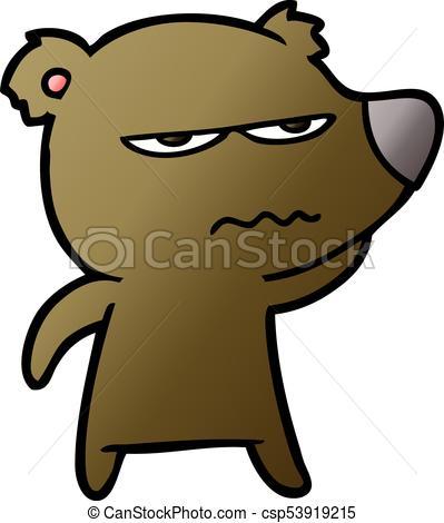 399x470 Angry Bear Cartoon Vector Clip Art