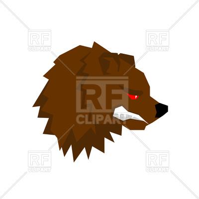 400x400 Angry Bear Head Royalty Free Vector Clip Art Image