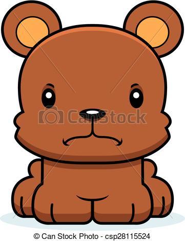 361x470 Cartoon Angry Bear. A Cartoon Bear Looking Angry. Vector