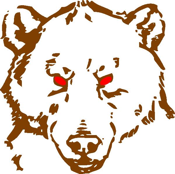 600x599 Angry Bear Clip Art