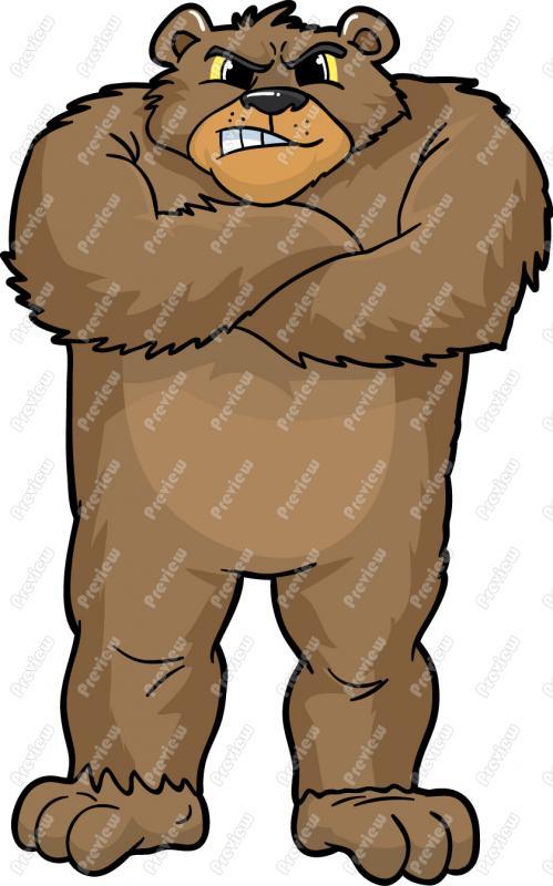 499x800 Grizzly Bear Cartoon Clipart